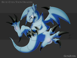 Blue Eyes Toon Dragon Dark Ver by GunZcon