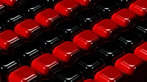 Black and Red Cubes by azieser
