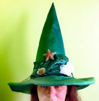 Mermaid Witch Hat by mermaidencreations