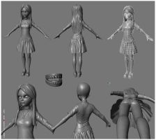 Amy in-game Model WIP by nyall