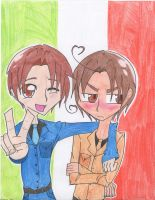 The Italy Brothers by Potato-Kitten