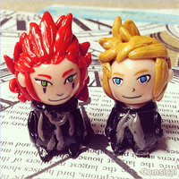 Axel and Roxas clay miniatures by Comsical