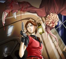 RE 2 Comic: Chapter 4 cover by Maggy-P