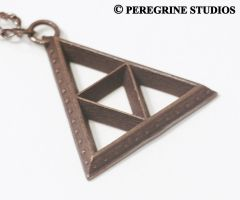 Pendant - TriForce (Bumped Base) by PeregrineStudios