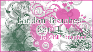 GIMP Random Brushes Set 1 by Illyera