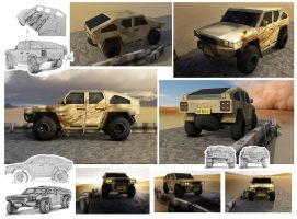 Toyota civilian military vehicle by RazorDzign