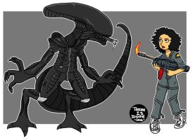 Xenomorph and Ripley by OUC