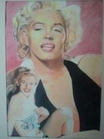 Marilyn before and after by cuspartist77
