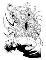 Daily Sketch John carpenter's The Thing by BESTrrr