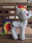 12in Rainbow Dash MLP:FIM Handmade Plush FOR SALE by Who-Butt
