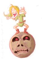Day 7 - Link on a Moon by rainvine