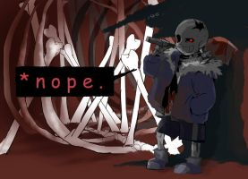 [horrortale]*nope. by nogoojing