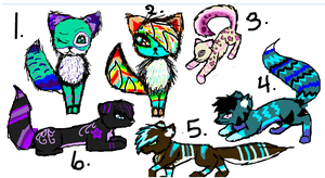 cute adoptables by wolf-drawer-kayla