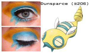Pokemakeup 206 Dunsparce by nazzara