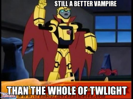 Bumblebee is so much better than Twilight by Blurr19