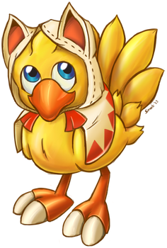 White Mage Chocobo by SmockHobbes