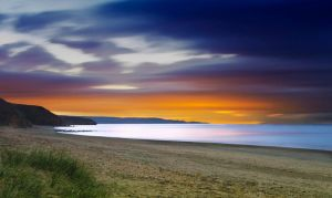 Beach At Night by mant01