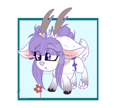 [COM] Ice Deer pocket pony by CreativeChibiGraphic