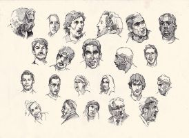Faces sketch study 8 by SILENTJUSTICE