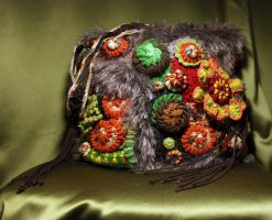 Freeform handbag, late autumn theme by JL-freeform