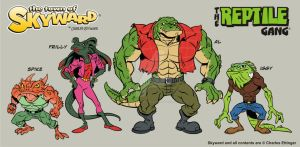 the Town of Skyward Reptile Gang by CharlesEttinger