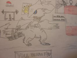 Kid Reshiram's weight room by Spyroconvexity
