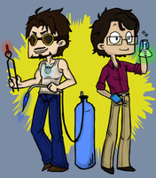 Science Bros by kawaii--chibi