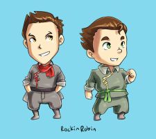 Mako + Bolin chibi by rockinrobin