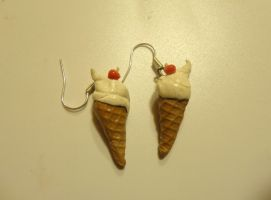 Ice cream earrings .w. by Yuki1Kurumi1Elric