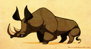Rhino by sketchinthoughts