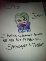 The Joker. Chibi Form by TheblueQueen16