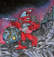 Ironhide in the wasteland by danbrenus