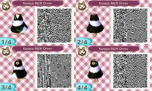 Black and White Virgo Dress QR Code - AC:NL by Pelixia