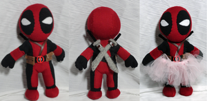Deadpool plush w/ Tutu~ by Cryptic-Enigma