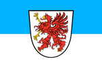 pomeranian flag with coat of arms. by kilesengati