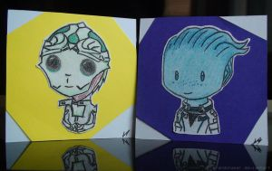 Chibi Liara and Thane by GrandChaser
