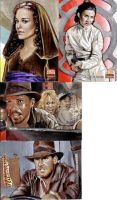 Star Wars Indiana Jones cards by sarahwilkinson