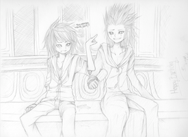 +Satoshi and Axel+ by taka-maple
