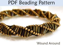 Wound Around Triple Helix Stitch PDF Beading Patte by SimpleBeadPatterns