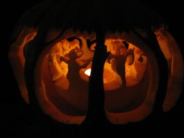 Haunted Forest Lit by Pumpkin-Crazy