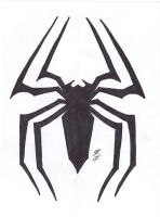 SPIDER-MAN SPIDER SYMBOL by lrayjus21