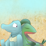 Dezore And Grovyle by awesomesaucejayare