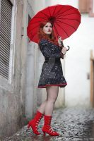 RED Umbrella by MADmoiselleMeli
