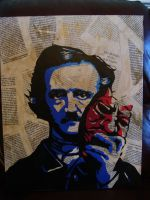 Edgar Allan Poe Stencil, 2 layers by Zombie-Pacman
