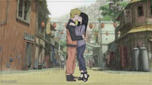 First kiss in the rain (naruto x hinata) by xilverxparkle