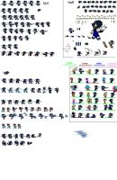 Dante the hedgewolf sprite sheet 90% done by DanteTheHedgewolf