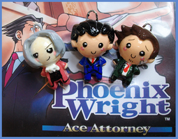 Chibi-Charms: Phoenix Wright by MandyPandaa