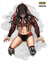 WWE NXT Finn Balor (Painting) by baguettepang