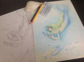 Mermaid WIP by Katerina-Art