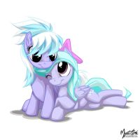 Flitter and Cloudchaser 2 by mysticalpha